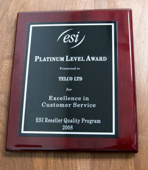 ESI Quality Program Award 2008